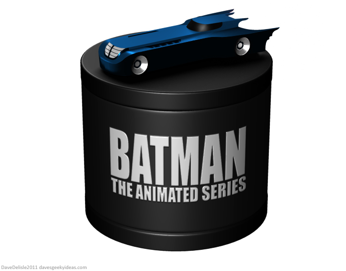 BATMAN the animated series blu-ray case design by Dave's Geeky Ideas Dave Delisle 2011