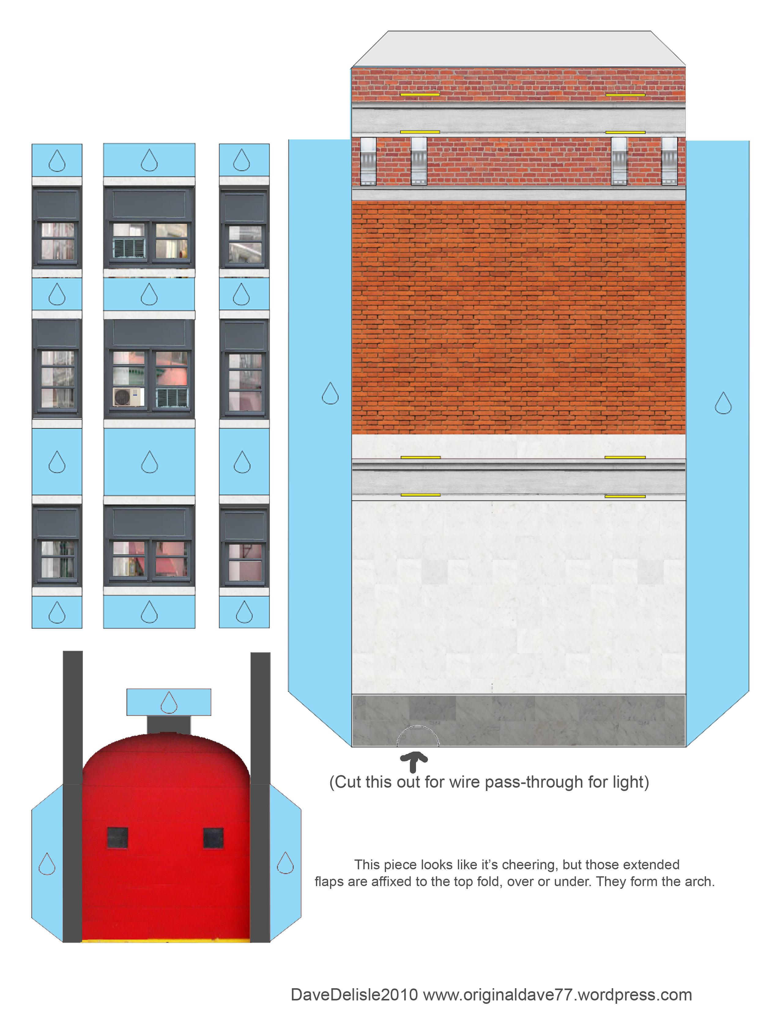 Ghostbusters Firehouse Papercraft  U2013 Dave U0026 39 S Geeky Ideas