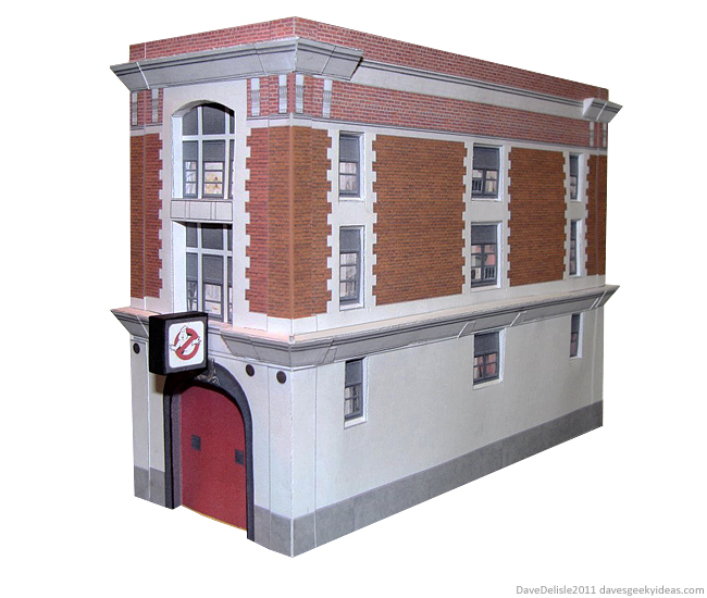 Ghostbusters Firehouse Papercraft design by Dave Delisle 2011 davesgeekyideas dave's geeky ideas