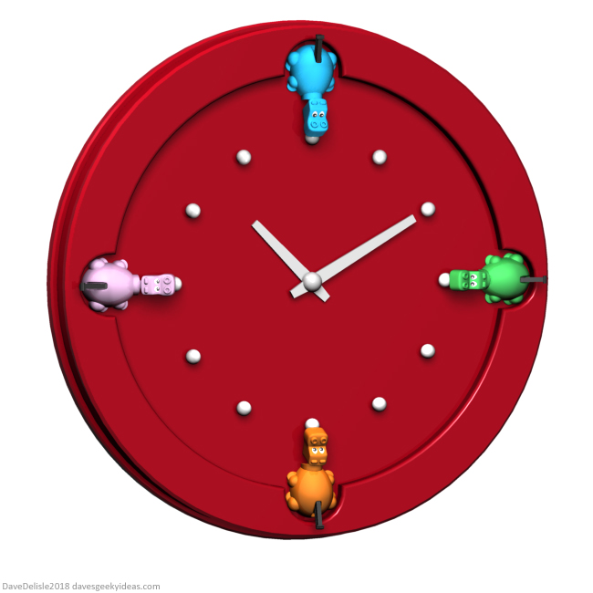 Hungry Hungry Hippo Clock design by Dave Delisle davesgeekyideas