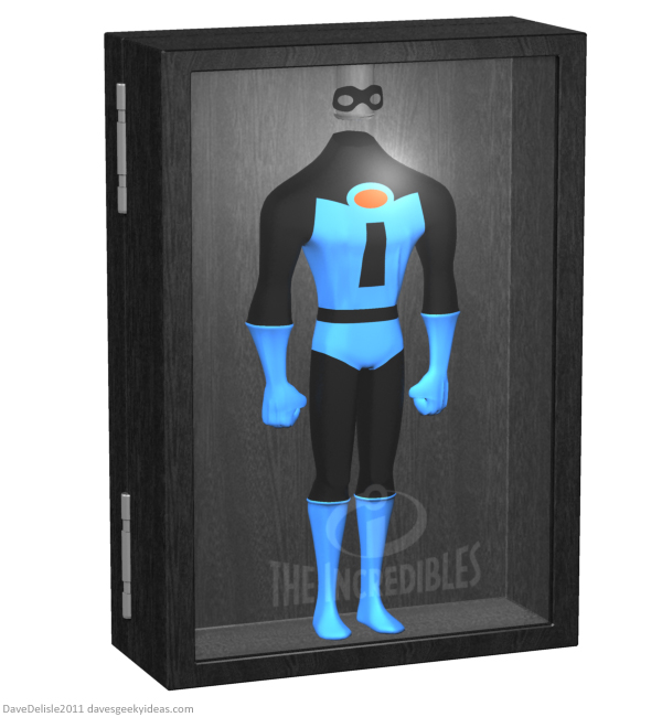 Mr Incredible costume display case Blu-Ray Case design by Dave Delisle