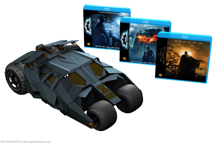 Dark Knight Trilogy Tumbler box set design by Dave Delisle davesgeekyideas