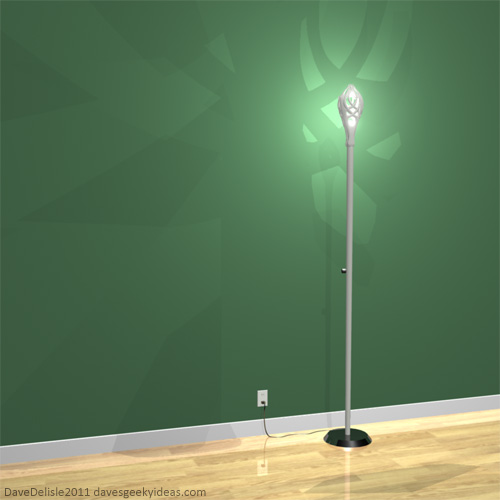 LOTR Gandalf Lamp 2011 Dave Delisle Floor Lamp