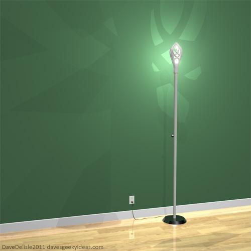 LOTR Gandalf Lamp 2011 Dave Delisle Floor Lamp