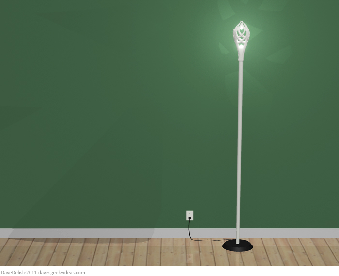 Gandalf LOTR tall lamp design by Dave Delisle