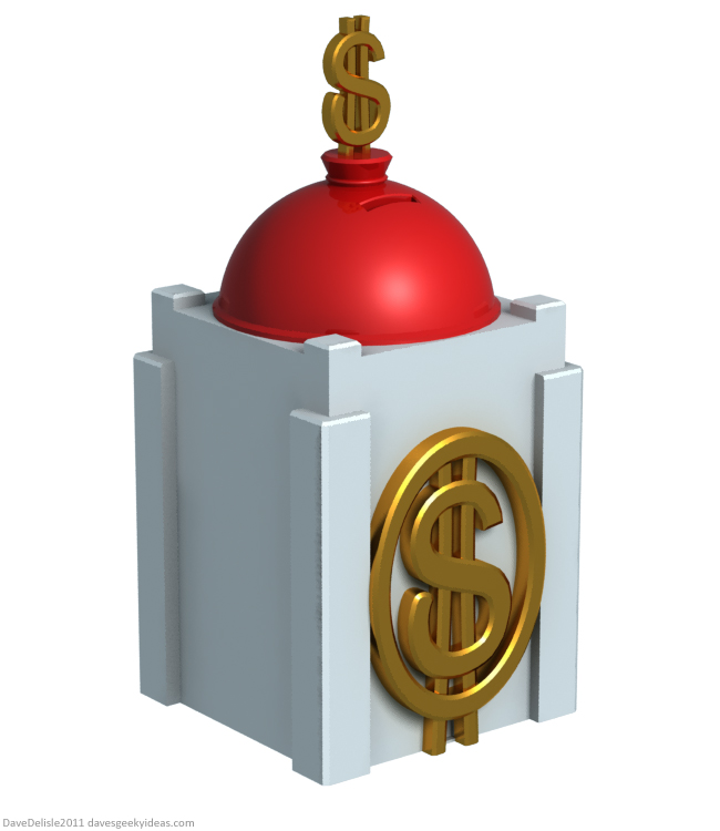 Ducktales Piggy Bank by Dave's Geeky Ideas Dave Delisle davesgeekyideas