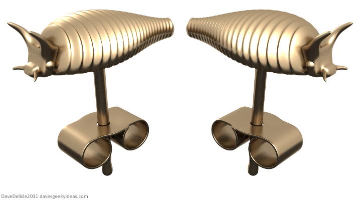 Star Trek Ceti Eel earrings by Dave Delisle
