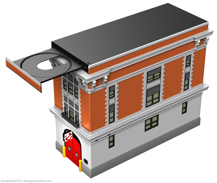 Ghostbusters PC Tower Case design firehouse by Dave Delisle