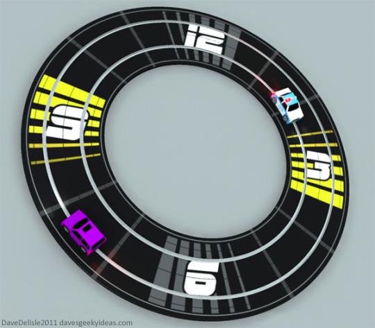 Slot Car Clock 2011 Dave Delisle