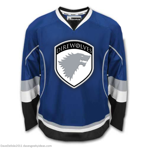 Game Of Thrones DIrewolves Starks Hockey Jersey