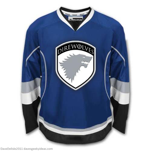 Game Of Thrones DIrewolves Starks Hockey Jersey