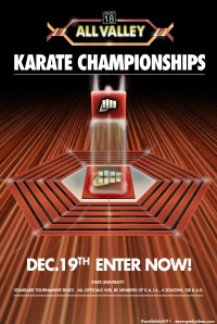 Karate Kid 1984 Tournament Poster All Seasons Karate Championship Kobra Kai
