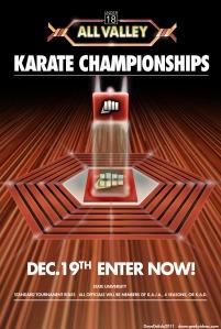 Karate Kid 1984 Tournament Poster All Seasons Karate Championship Kobra Kai