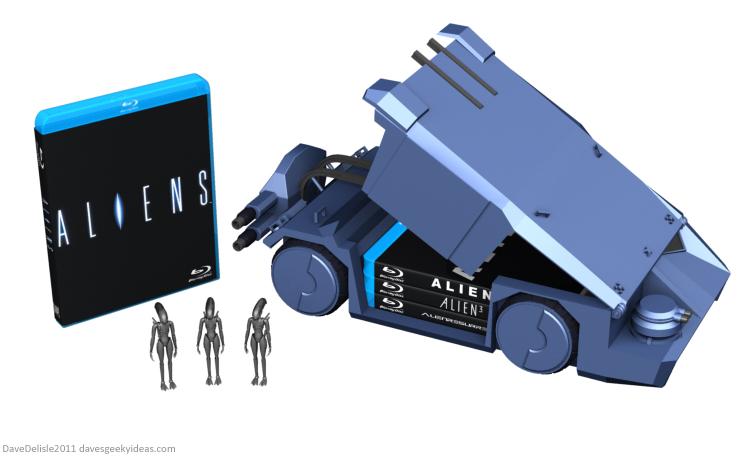 Aliens Blu-Ray case design by Dave Delisle davesgeekyideas
