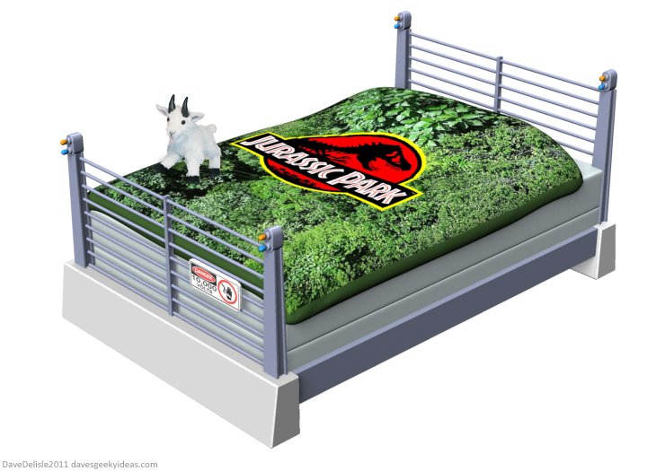 Jurassic Park Bed Frame design by Dave Delisle