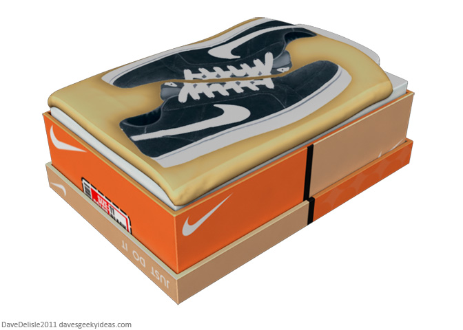 Nike shoebox bed shoe furniture 2011 Dave Delisle davesgeekyideas.com