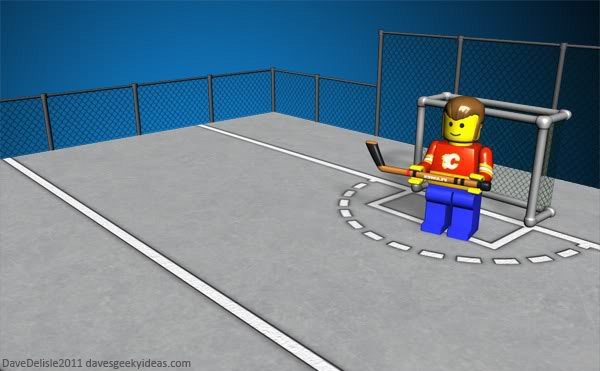 Street Hockey Court Oudoors Dave Delisle davesgeekyideas