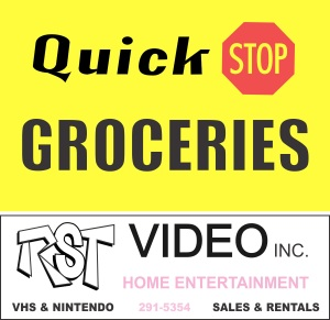 Quick Stop RST Video Sign Logo LARGE View Askew Clerks Clerks II Stores
