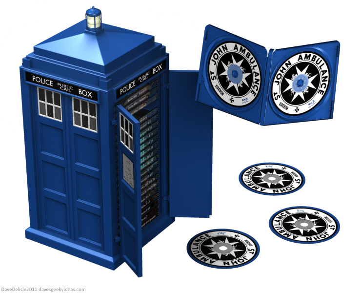 Tardis Blu-Ray DVD Case Doctor Who 2011 Dave Delisle dave's geeky ideas