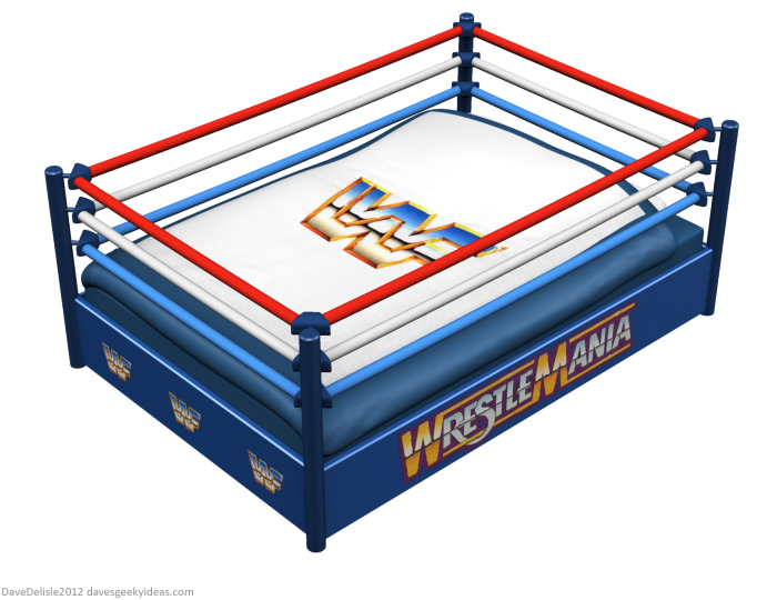 WWF wrestling bed 2012 Dave Delisle davesgeekyideas