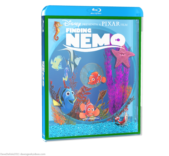 Finding Nemo Blu-Ray Case design by Dave Delisle