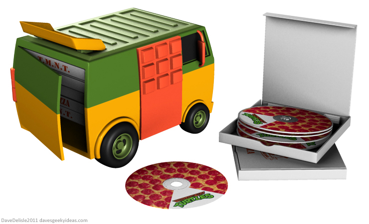 TMNT Party Wagon Blu-Ray case design by Dave Delisle