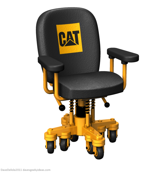 Heavy Duty caterpillar office chair design by Dave Delisle 2011 davesgeekyideas