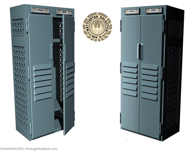 BSG Battlestar Galactica Locker Wardbrobe by Dave Delisle