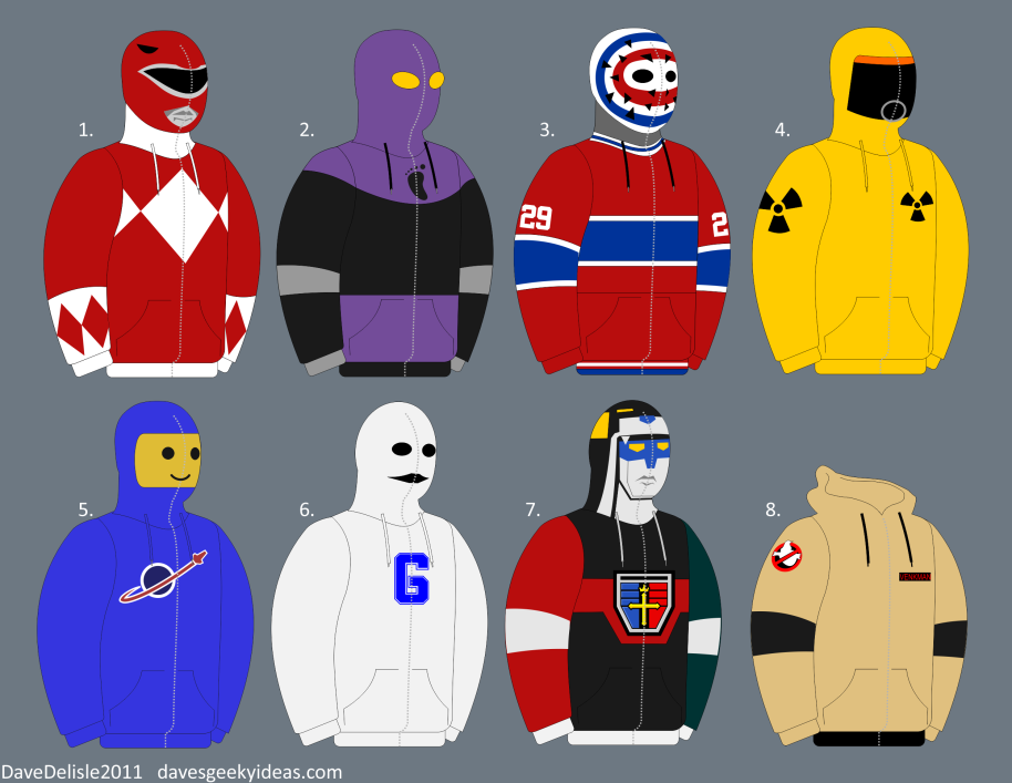 Full Zip Hoodies Ideas Designs Voltron Power Rangers Ken Dryden BTTF Community NBC