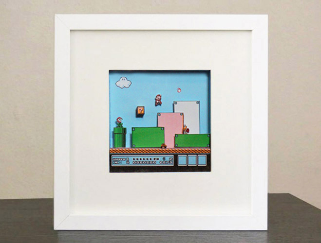 Ikea ribba papercraft part 1 super mario bros 3 dave 39 s - Ikea riba ...