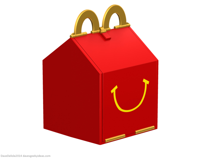 McDonald's Happy Meal lunch box for grownups 2011 dave delisle davesgeekyideas dave's geeky ideas