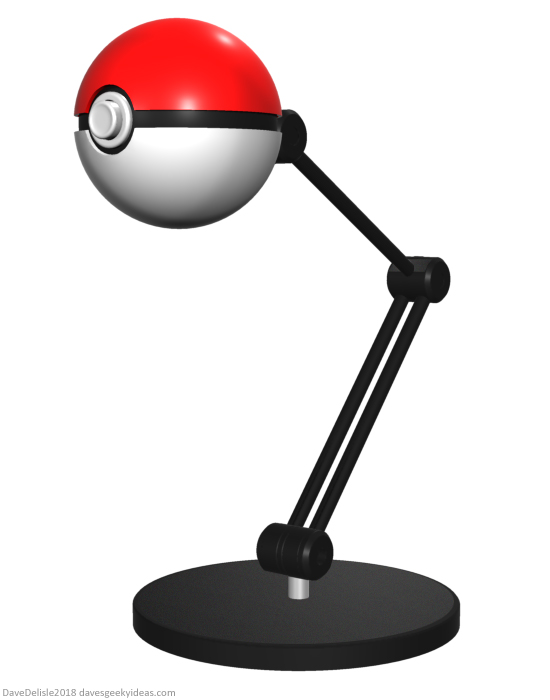 Pokeball Lamp design by Dave Delisle