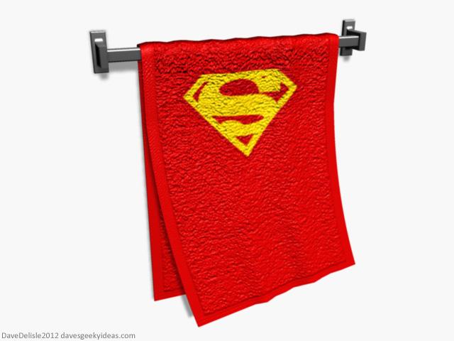 Superman Towel Cape 2012 Dave Delisle davesgeekyideas.com