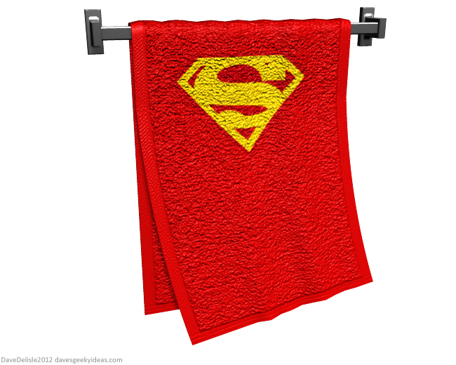 Superman Cape Towel design by Dave Delisle