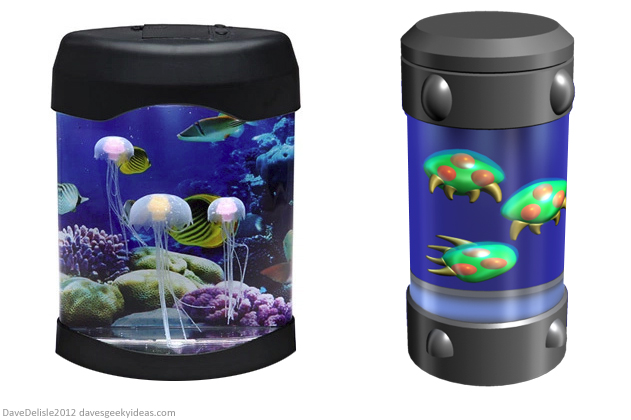 Metroid Fish Tank Cannister by Dave Delisle