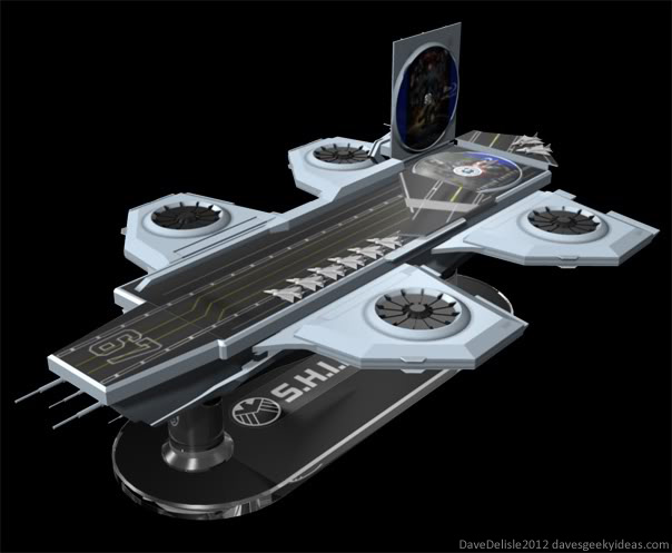 SHIELD Helicarrier Blu-Ray Case 2012 Dave Delisle davesgeekyideas