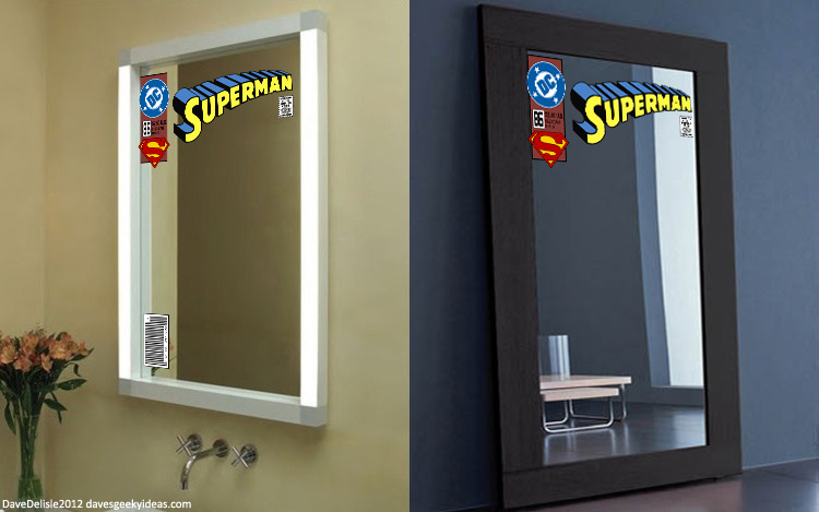 Comic Book Mirror Decals