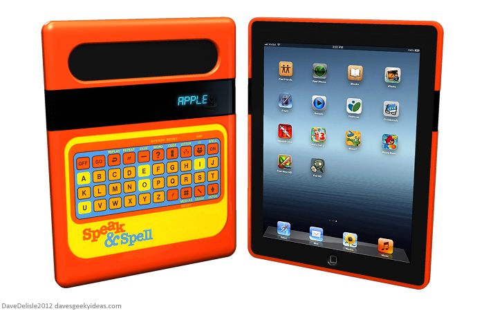 Speak and Spell iPad case by Dave Delisle