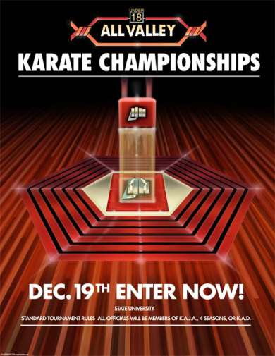 Karate Kid All Valley Tournament Poster