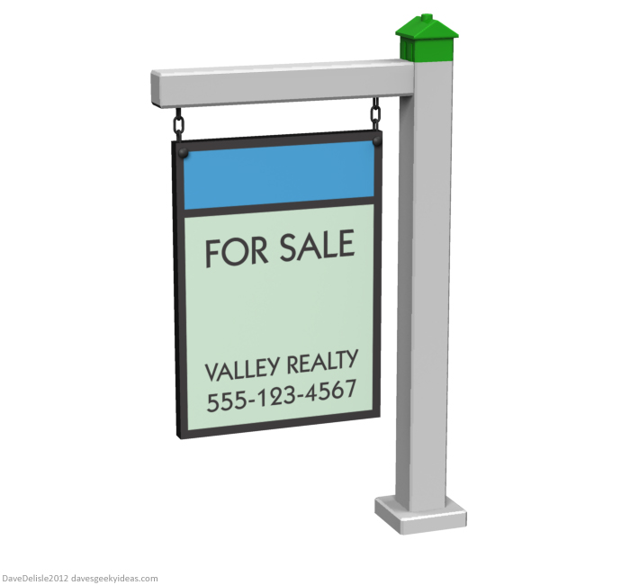 Monopoly real estate sign signage design by Dave Delisle Dave's Geeky Ideas davesgeekyideas