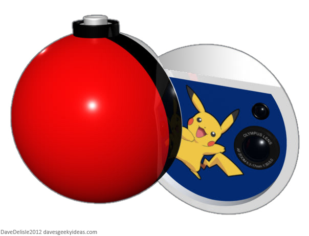 Pokemon Pikachu Camera Pokeball 2012 Dave Delisle