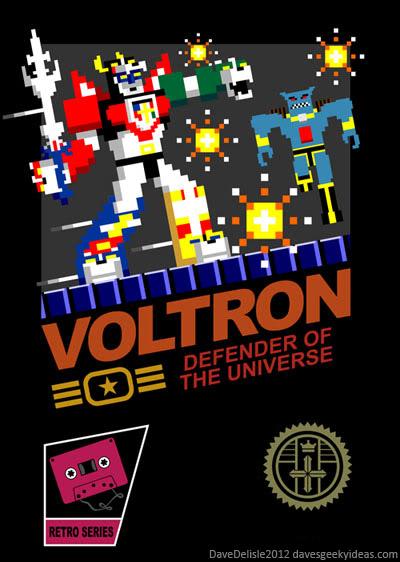 Voltron NES 8-Bit T-Shirt