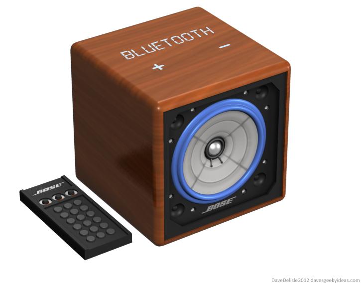 BTTF bluetooth speaker design 2012 dave delisle davesgeekyideas dave's geeky ideas