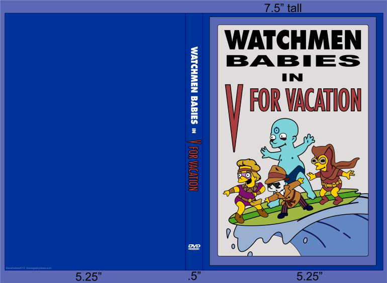 Watchmen Babies High-Res LARGE V For Vacation Simpsons Alan Moore