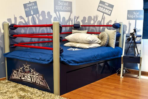 Wrestling in bed