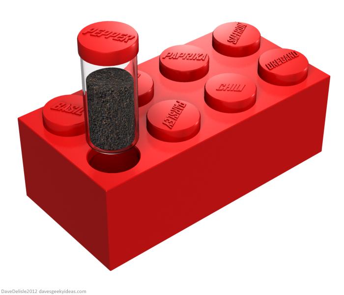 LEGO spice rack design by Dave Delisle
