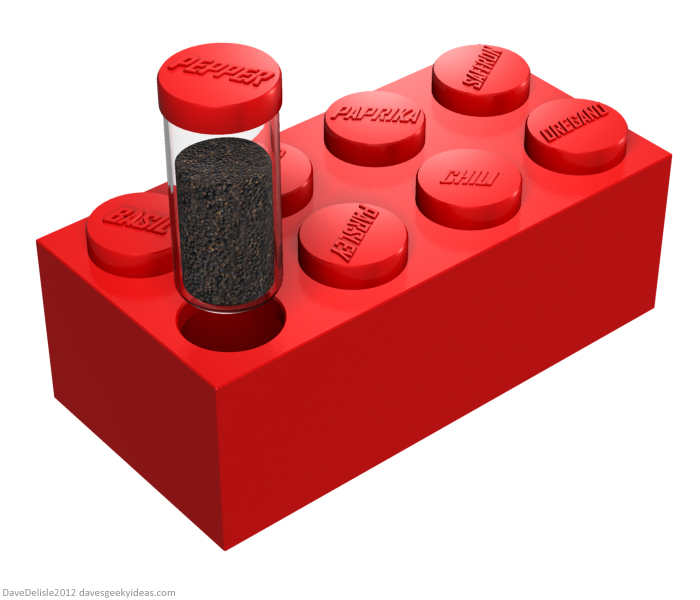 LEGO spice rack design by Dave Delisle