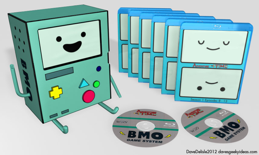 Adventure Time Beemo Blu-Ray Case Storage Box Set Sleeve Cardboard
