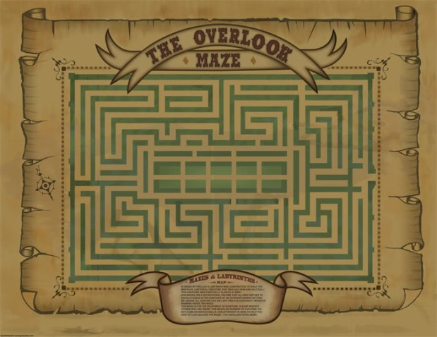 Overlook maze map from the Shining