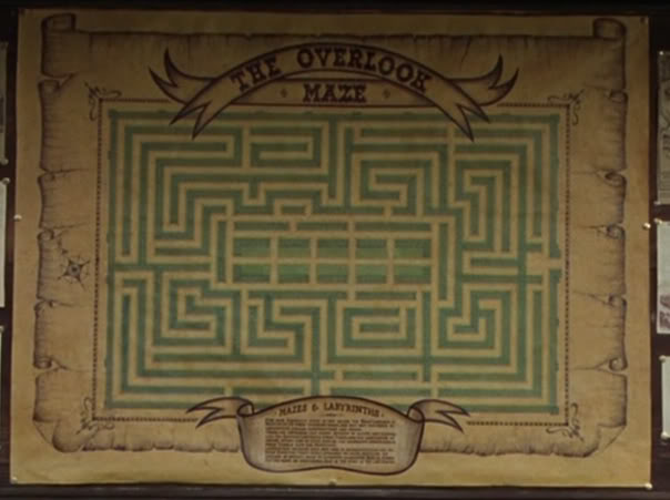 Overlook maze map from the Shining Dave Delisle 2012